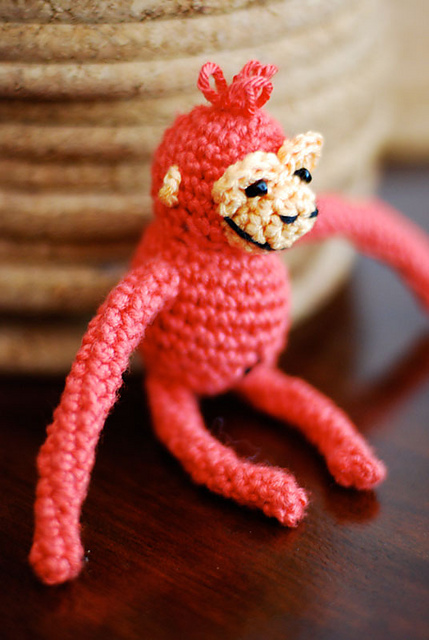 Orangutan plush toy amigurumi monkey ape
